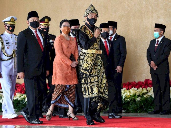 Buka Pidato Kenegaraan di DPR, Jokowi: Semestinya Kursi Ruang Ini Terisi Penuh