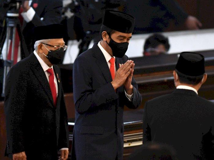 Kompak dengan Ma'ruf Amin, Jokowi Kini Kenakan Jas di Sesi Kedua Sidang Tahunan MPR