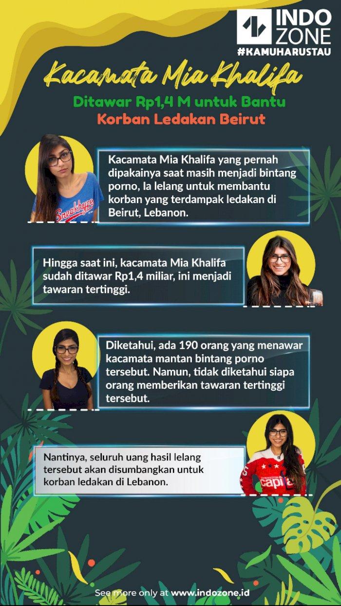 Kacamata Mia Khalifa Ditawar Rp1,4 M untuk Bantu Korban Ledakan Beirut