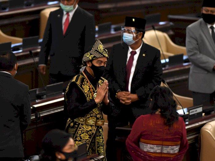 Hadiri Sidang Tahunan MPR 2020, Jokowi Kenakan Pakaian Adat Suku Sabu NTT