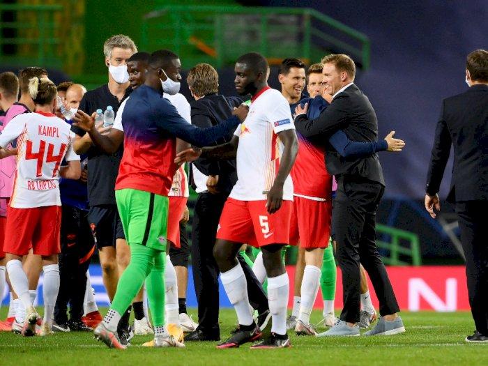 FOTO: Liga Champions: RB Leipzig Hajar Atletico Madrid 2-1
