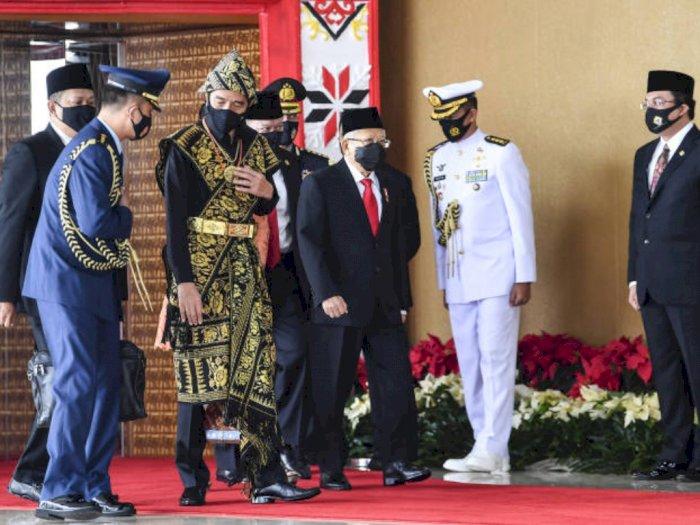 Jokowi Pakai Baju Adat Sabu dari NTT, Ketua DPR Puan Maharani Lempar Pujian