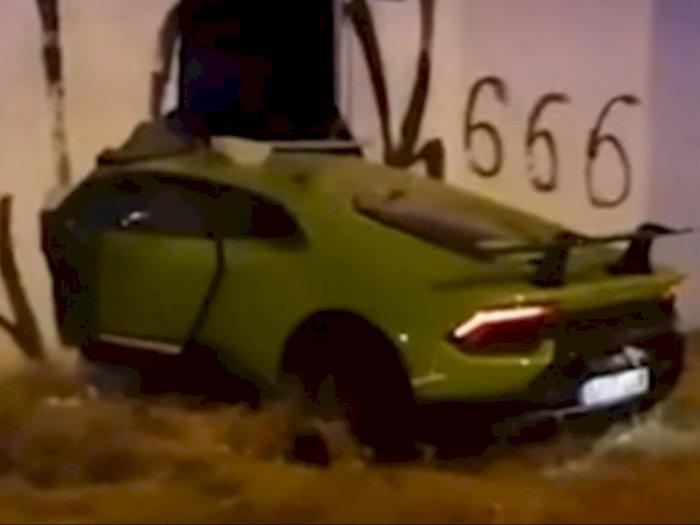Pinjam Lamborghini Temannya, Pria ini Malah Alami Kecelakaan Hingga Hancur Parah