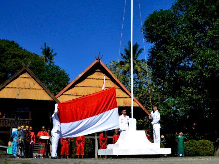 FOTO: Upacara Kemerdekaan RI di Kerajaan Bajeng Gowa