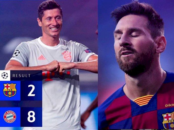 Dibantai 2-8 oleh Bayern Munchen, Barcelona Pecat Quique Setien, Messi Malu Setengah Mati
