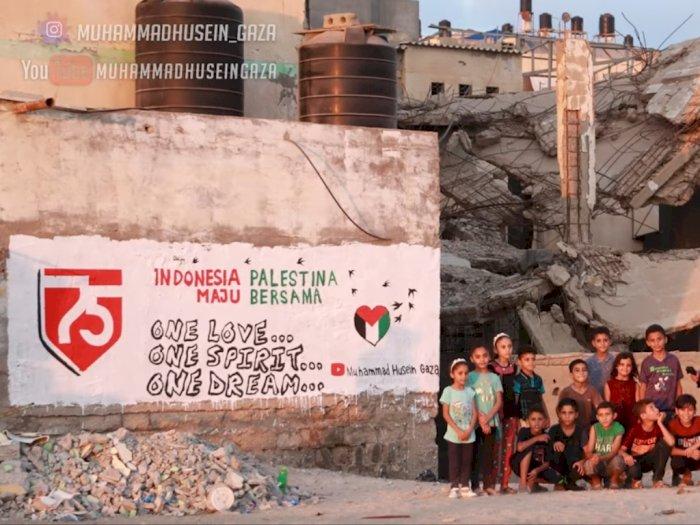 Terharu! Dirgahayu HUT ke-75 RI, Warga Palestina Beri 'Hadiah Kecil' untuk Indonesia