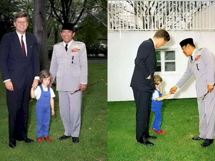 Foto Langka Ketika Bung Karno Jumpa Presiden AS John F Kennedy dan Putrinya, Bahas Apa?