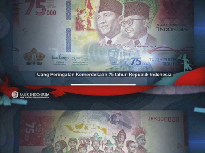 Uang Rp75 Ribu Edisi Khusus Dilengkapi Pengaman Terbaru, Sulit Dipalsukan
