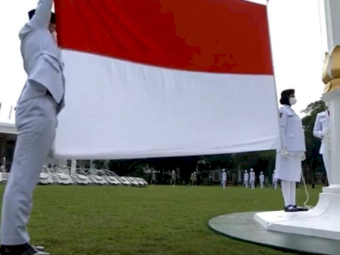 Begini Khidmatnya Upacara Detik-detik Proklamasi di Istana Merdeka Jakarta