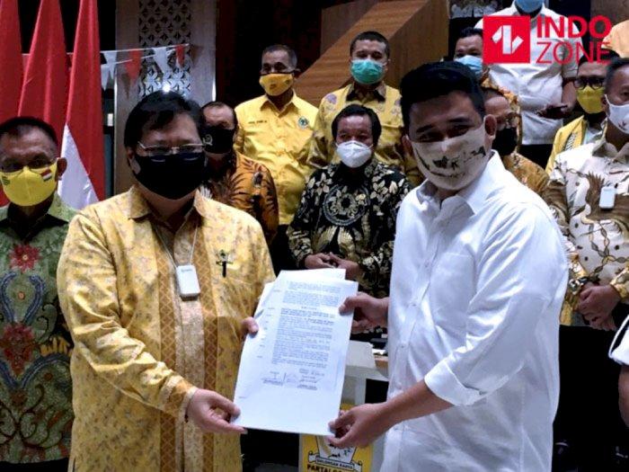 Airlangga Serahkan Dukungan Partai Golkar ke Bobby Nasution