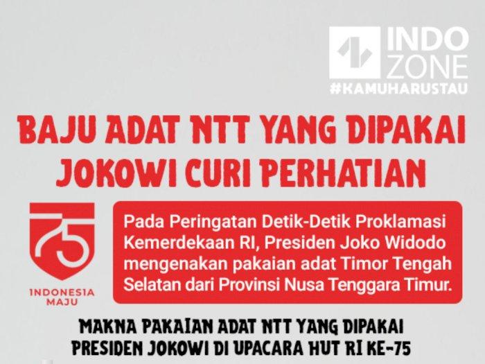 Baju Adat NTT Yang Dipakai Jokowi Curi Perhatian