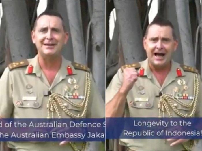 Fasih Berbahasa Indonesia, Atase Pertahanan Australia Ucapkan Dirgahayu Republik Indonesia