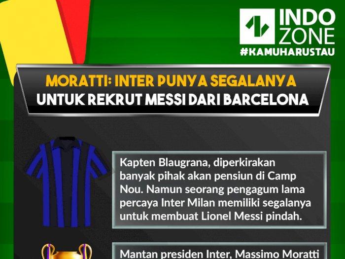 Moratti: Inter Punya Segalanya untuk Rekrut Messi dari Barcelona