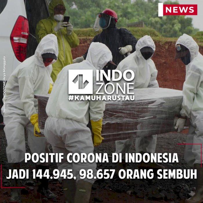 Positif Corona di Indonesia Jadi 144.945, 98.657 Orang Sembuh