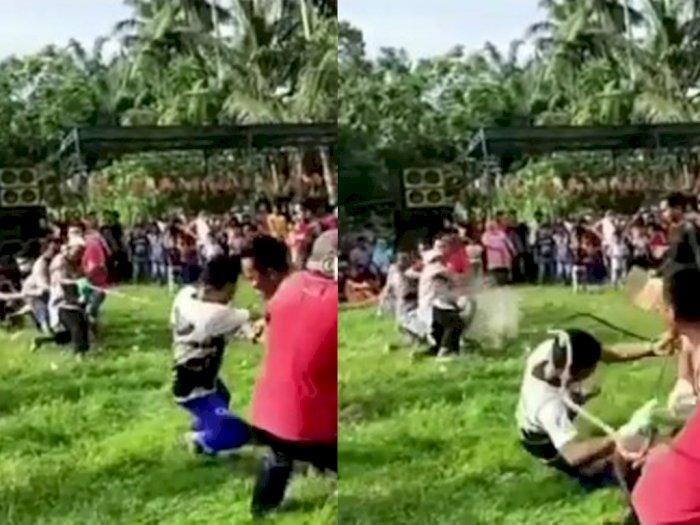 Saking Semangat 17-an, Tali Tarik Tambang di Labuhan Batu Putus, Warganet: Ngakak Botul!