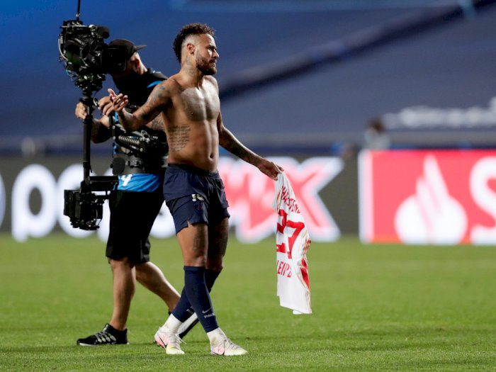 Lagi Corona, Neymar Tukaran Jersey dengan Pemain Leipzig, Netizen: Awas Kena Sanksi UEFA!