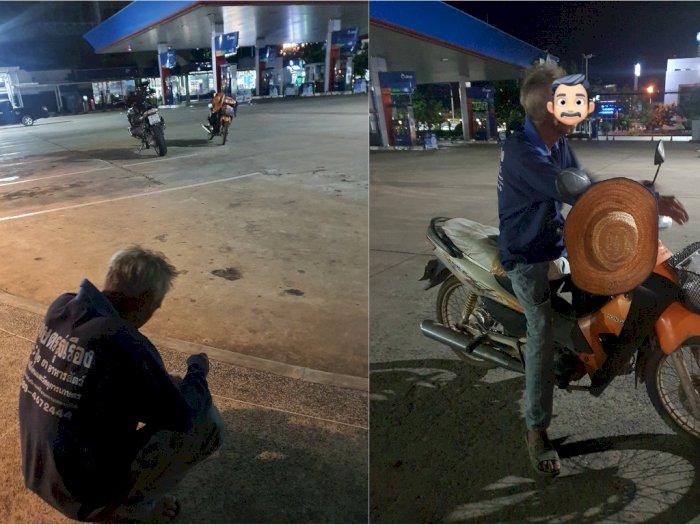 Kakek Ini Tempuh 300 Km Demi Ketemu Cucu untuk Terakhir Kali, Tidur di Pom Bensin
