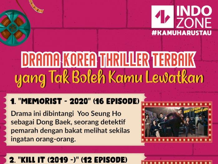 Drama Korea Thriller Terbaik yang Tak Boleh Kamu Lewatkan
