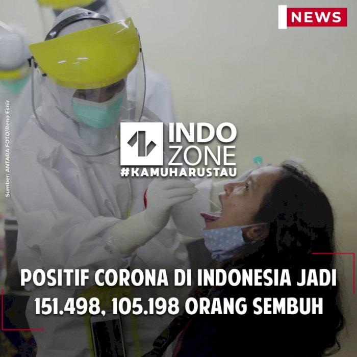 Positif Corona di Indonesia Jadi 151.498, 105.198 Orang Sembuh