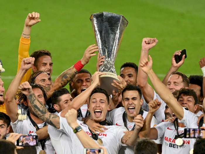 FOTO: Momen Selebrasi Juara Liga Europa Sevilla