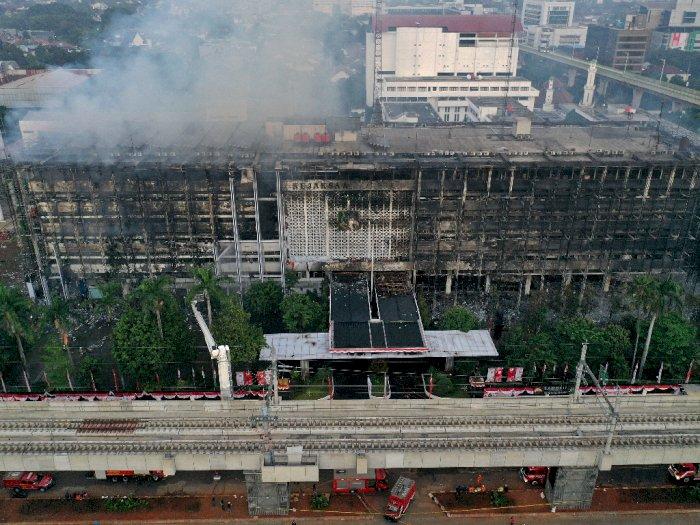 FOTO: Potret Gedung Kejaksaan Agung Pasca Pasca Dilalap Si Jago Merah