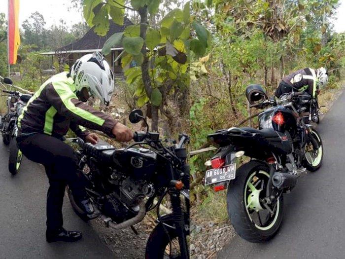 Langka! Pria Ini Dibantu Polisi Baik Hati saat Motornya Mogok, Tolak Beri Tahu Namanya