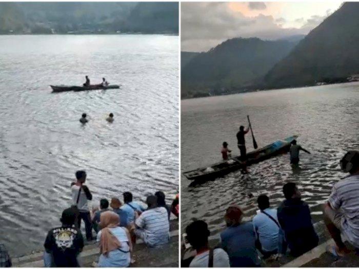 Seorang Warga yang Hilang di Perairan Danau Toba Tongging Hingga Sore Ini Belum Ditemukan