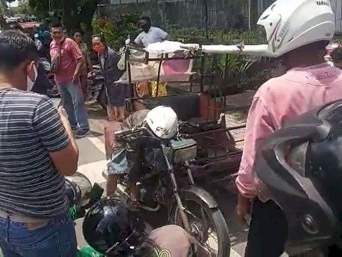 Bikin Geger! Seorang Pengemudi Betor Tiba-tiba Meninggal di Jalan Adam Malik Medan