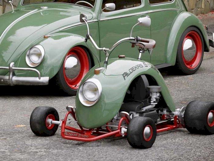 Go-Kart Ini Tampil dengan Desain Ala-Ala Sayap Roda Volkswagen Beetle!