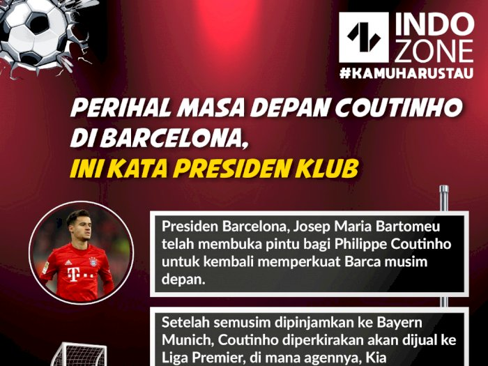 Perihal Masa Depan Coutinho di Barcelona, Ini Kata Presiden Klub