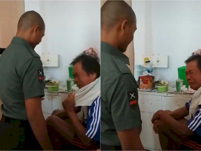 Pemuda Ini Beri Surprise ke Ayah Usai Lolos Tes TNI di Upaya Ketiga, Ayahnya Menangis Haru