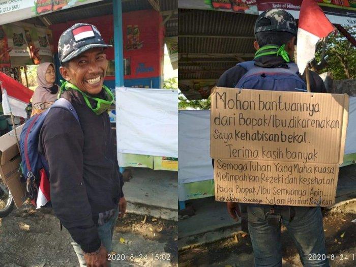 Bekal Pria Ini Habis usai Jalan Kaki dari Jakarta ke Surabaya, Jual Ponsel Cuma Rp 65 Ribu