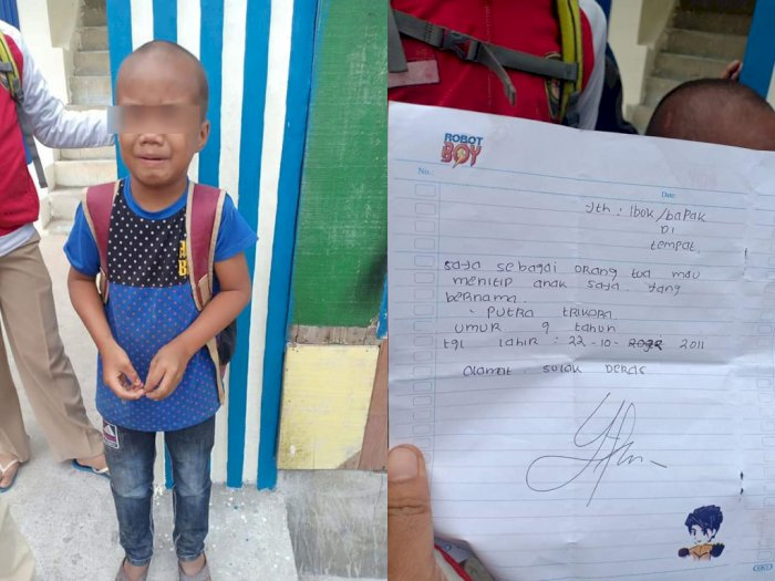 Tragis! Bocah 9 Tahun Menangis Histeris usai Ditinggal Orangtua, Ada Pesan Mengejutkan