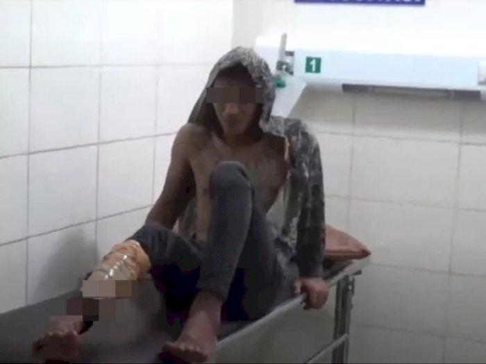 Pelaku Curanmor di Medan Ini Menangis Panggil Ibu Setelah Ditembak Polisi