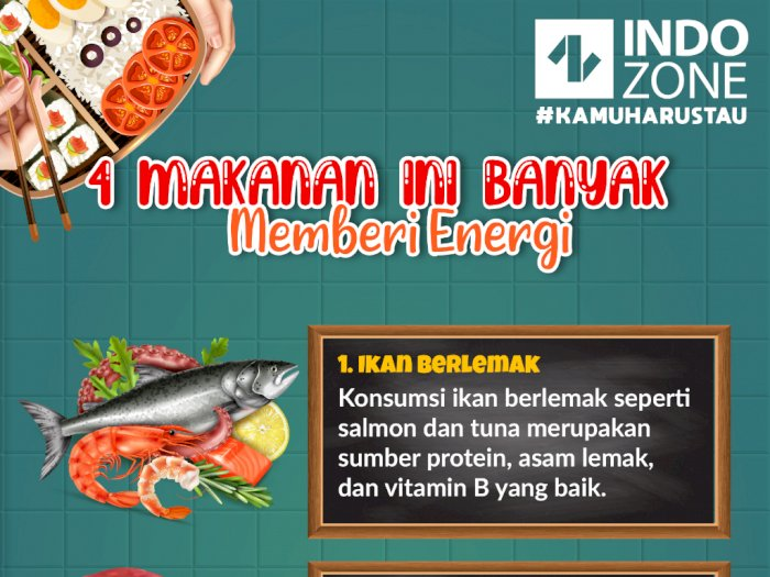 4 Makanan ini Banyak Memberi Energi