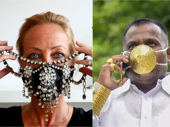 Deretan Masker Covid-19 Mewah dari Berbagai Negara, Mulai dari Emas hingga Berlian