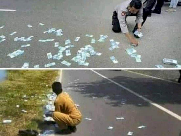 Heboh Foto Pria Buang Uang Rp300 Juta di Jalan karena Depresi Ditinggal Nikah, Faktanya...