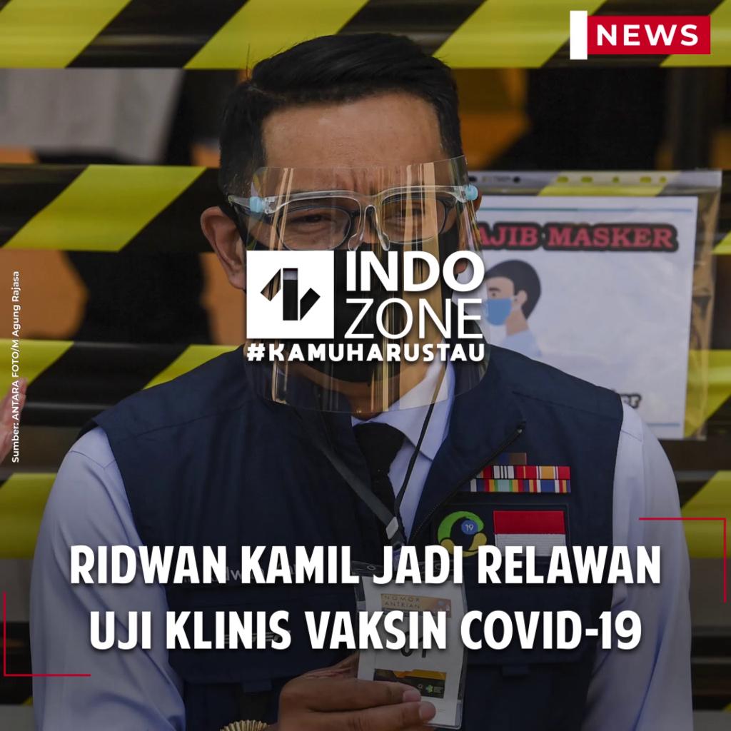 Ridwan Kamil Jadi Relawan Uji Klinis Vaksin COVID-19