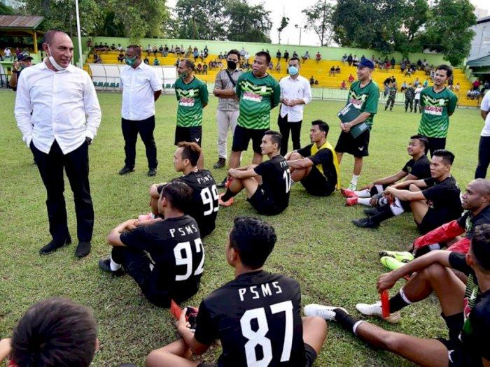 Jelang Liga 2, Gubernur Edy Targetkan PSMS Medan Juara