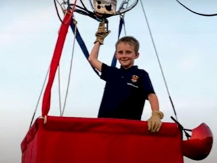 Bocah 8 Tahun Pecahkan Rekor Dunia Sebagai Pilot Tunggal Balon Udara Termuda, Mantap!