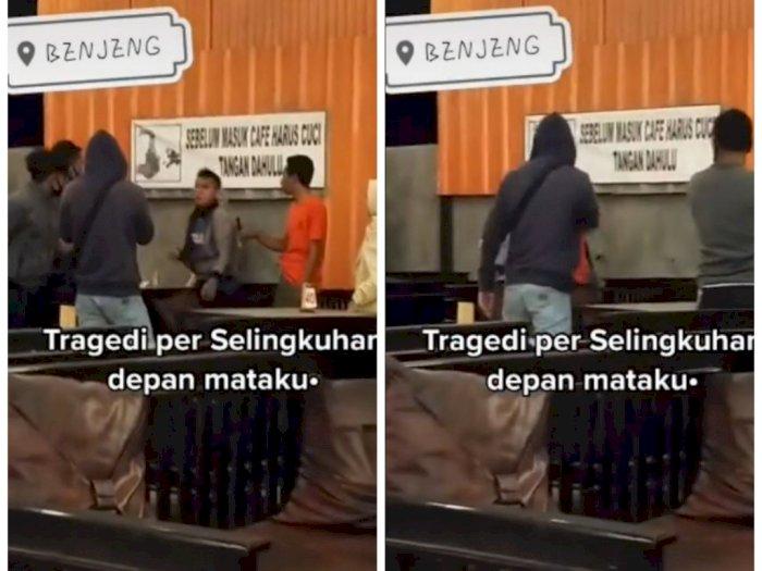 Dua Pria Baku Hantam di Tempat Makan, Diduga Gara-Gara Ketahuan Selingkuh