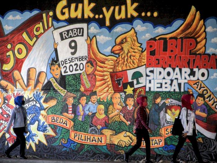 FOTO: Mural Sosialisasi Pilkada 9 Desember 2020