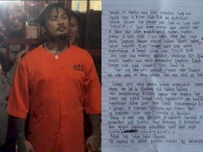 Lebih 2 Pekan Ditahan, Jerinx Tulis Surat dari Balik Jeruji Besi, Isinya Bikin Merinding
