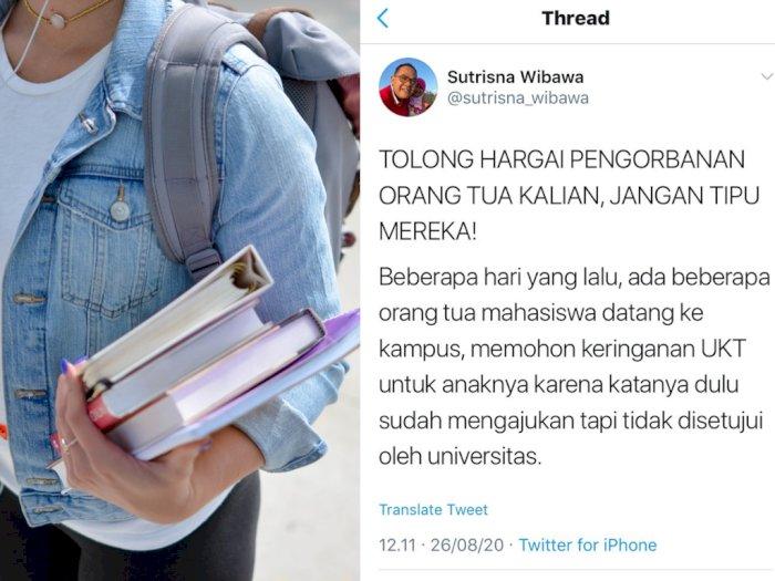 Tega! Mahasiswa Ini Bohongi Orangtuanya Soal UKT, Uangnya 'Dikorupsi'
