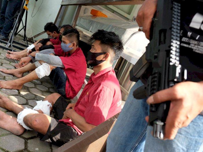 FOTO: Penangkapan Tersangka Perampokan Nasabah Bank di Sumut