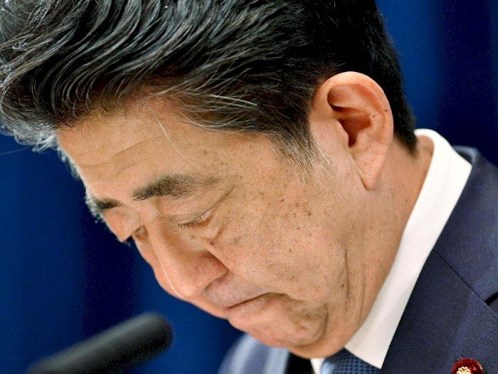 FOTO: Perdana Menteri (PM) Jepang Abe Mengundurkan Diri