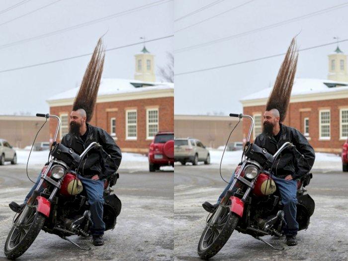 Pria Minnesota Ini Raih Rekor Dunia Guinness untuk Mohawk Tertinggi di Dunia
