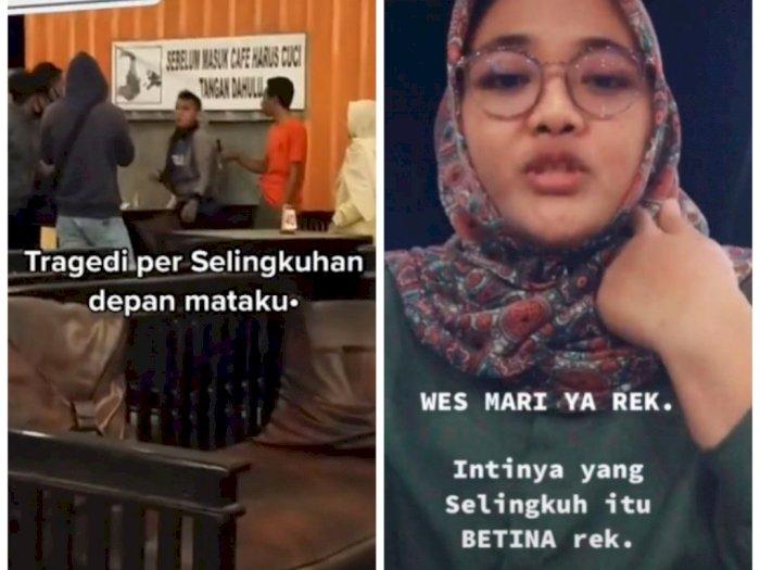 Viral Dua Pria Baku Hantam Gegara Ketahuan Selingkuh, Si Cewek Malah Belain Selingkuhannya