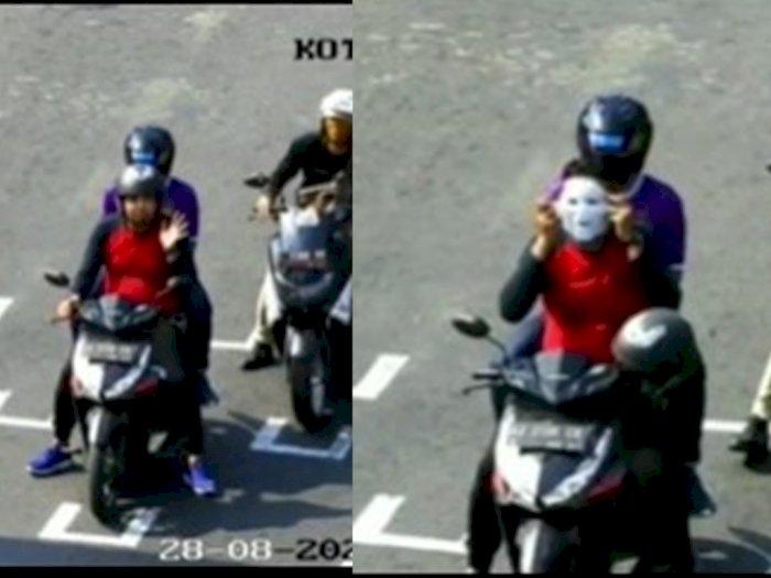 Video Petugas Dishub Wanita Menggoda Pengendara Motor Pria yang Tak Pakai Masker