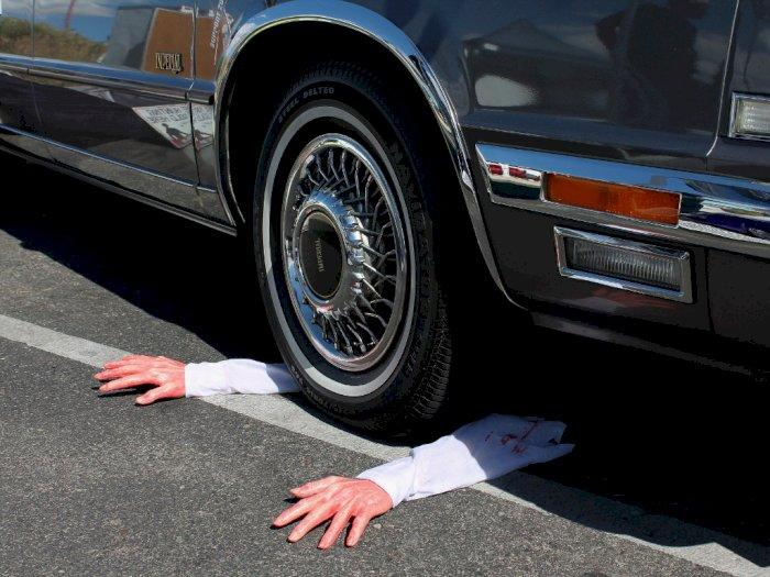 Tragis, Salip Kendaraan saat di Tikungan, Pemotor di Simalungun Tewas Terlindas Mobil